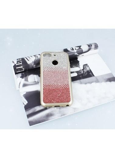 MobilCadde General Mobile GM 8 GO Taşlı Geçişli Pembe Silikon Kılıf Pembe